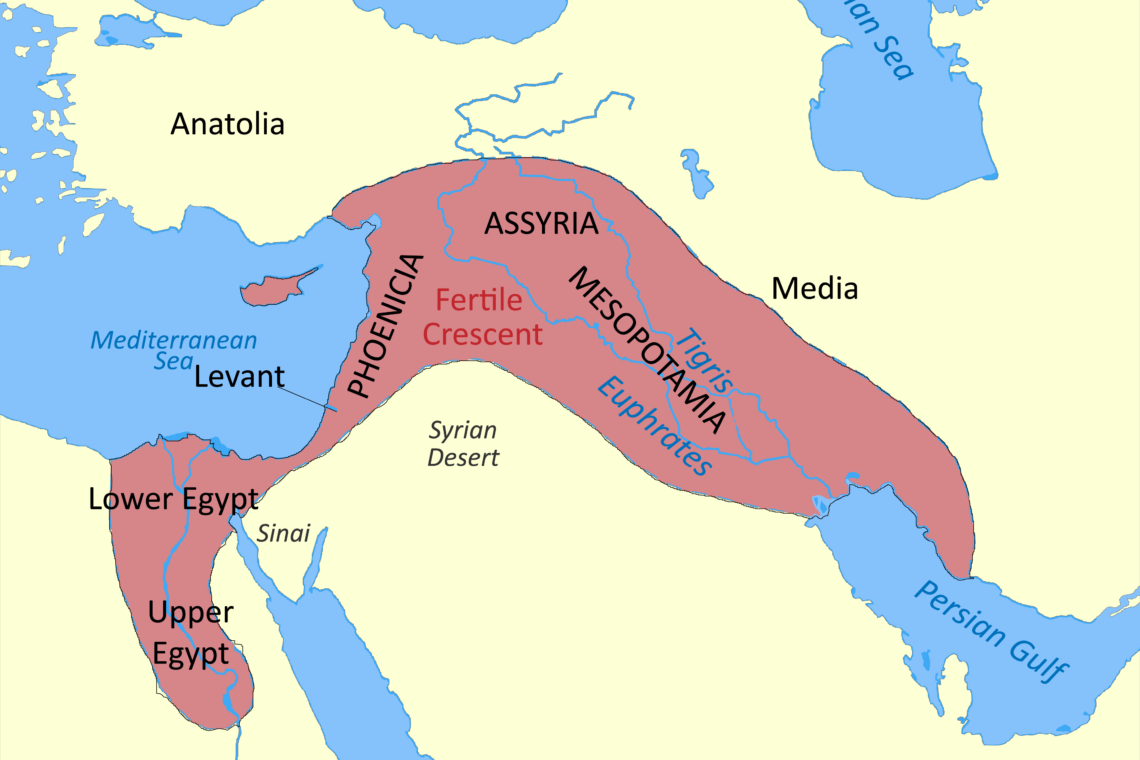 Map of fertile crescent