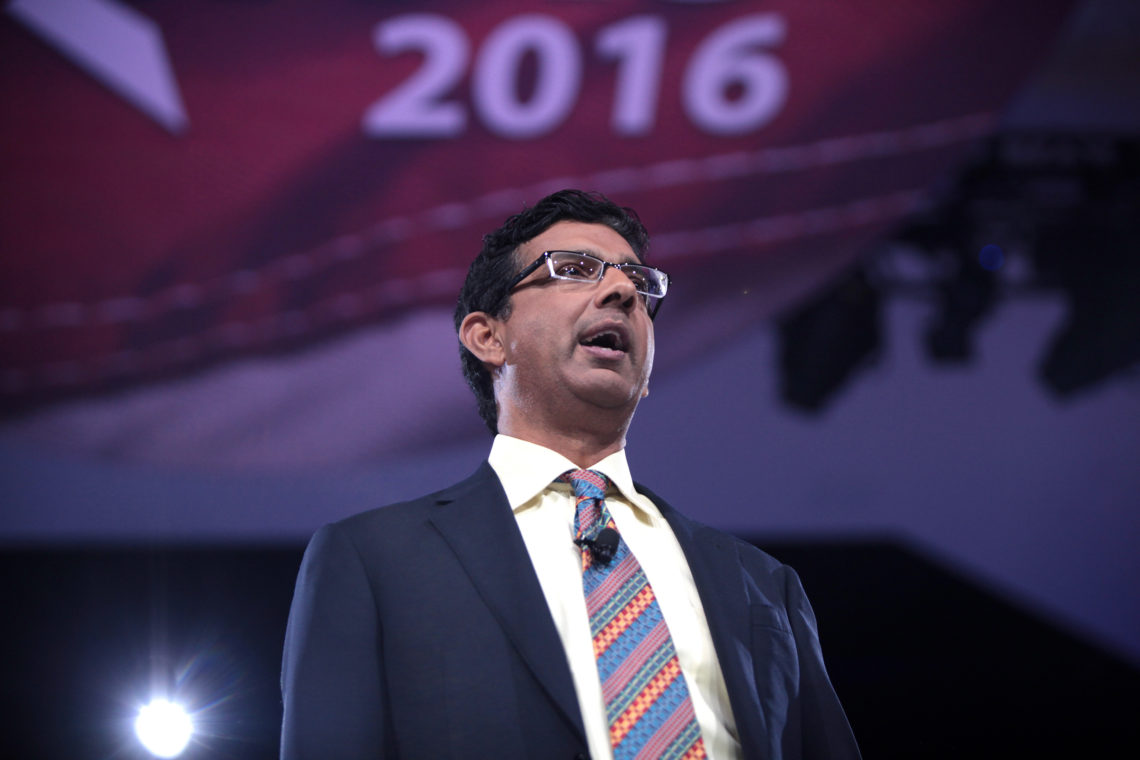 Dinesh D'Souza speaking at the 2016 Conservative Political Action Conference (CPAC) in National Harbor, Maryland.