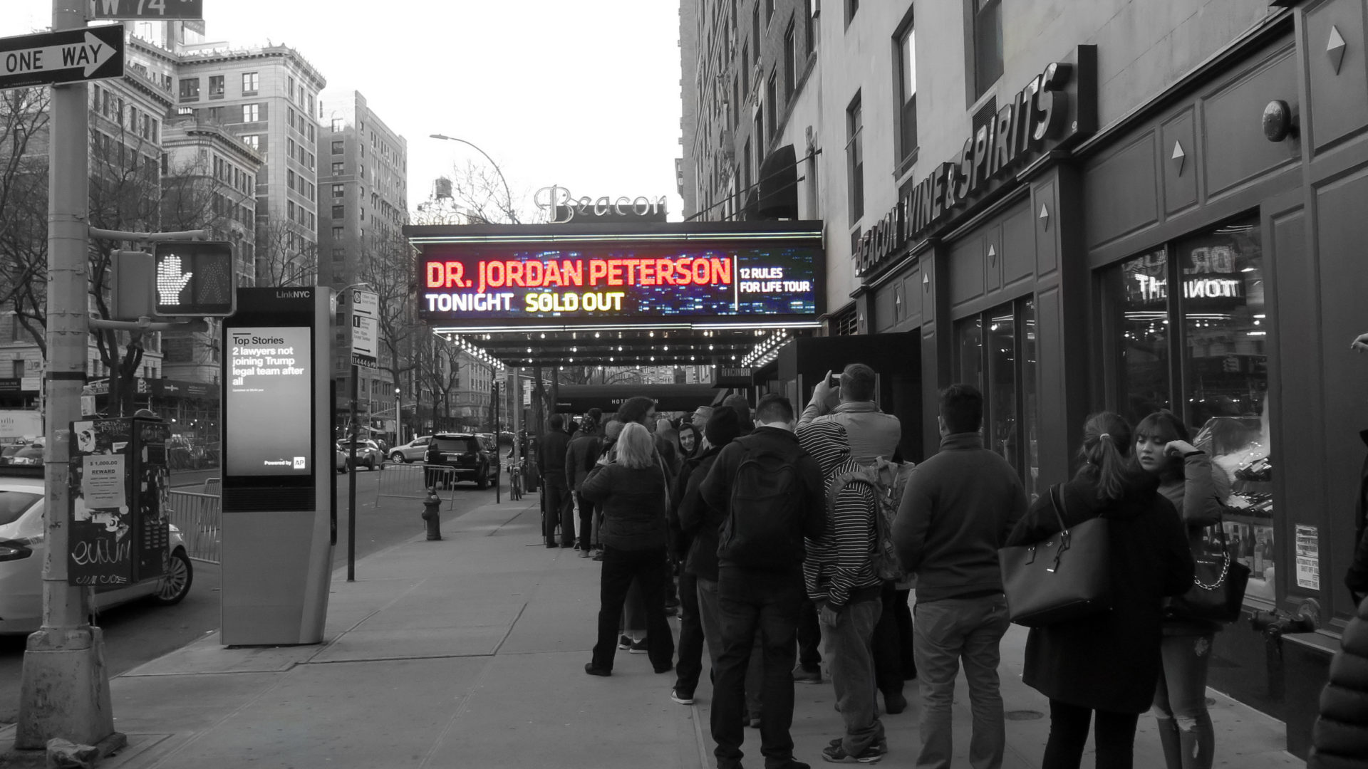 Jordan Peterson sold out at the Beacon Theater