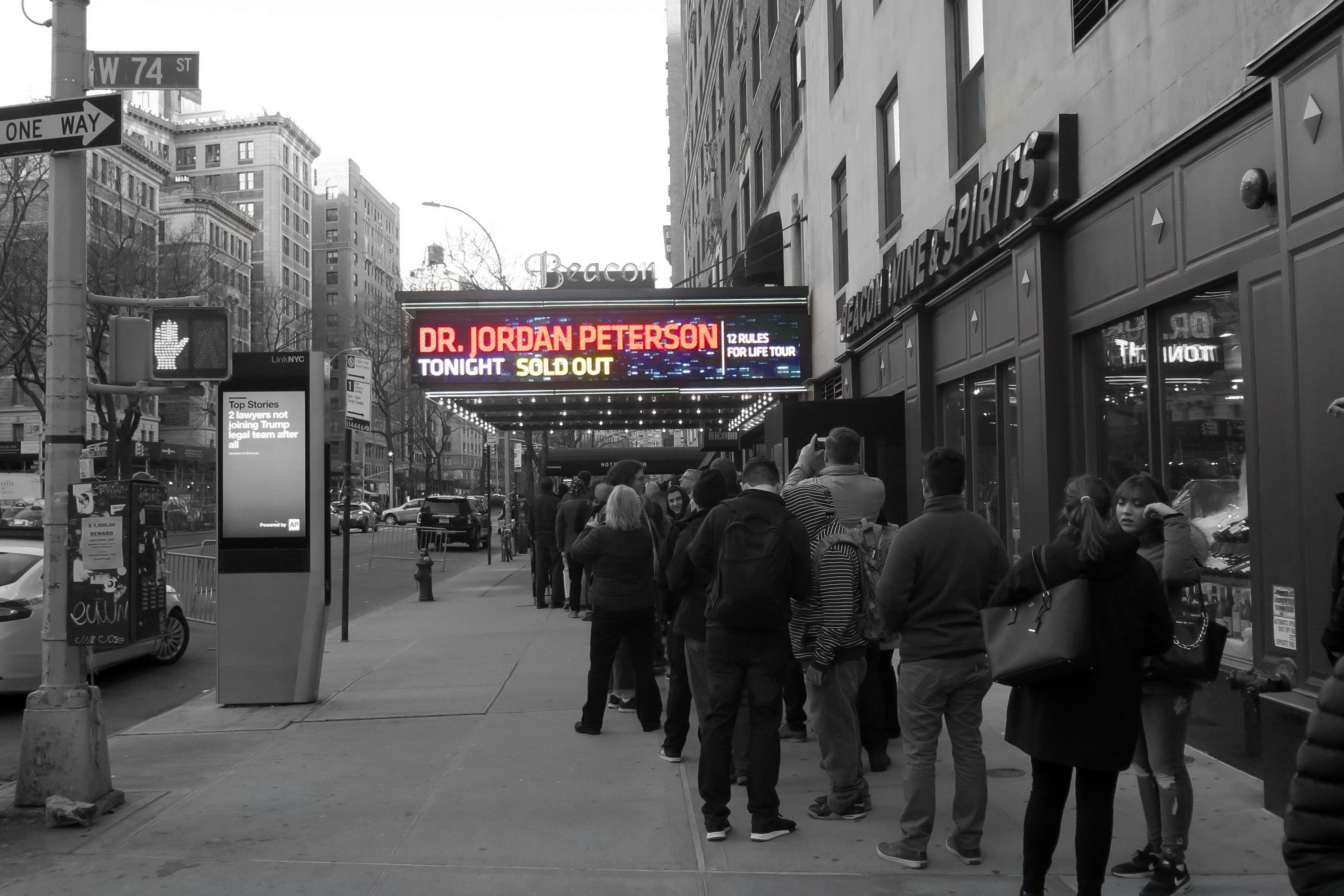 niska cena najlepsze podejście outlet na sprzedaż The Jordan Peterson Show in New York - Tingis Magazine