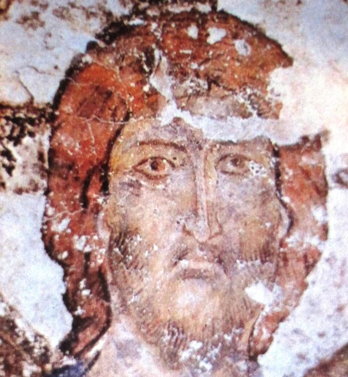 Fresco from the Vardzia monastery depicting Christ, 12th-13th centuries
