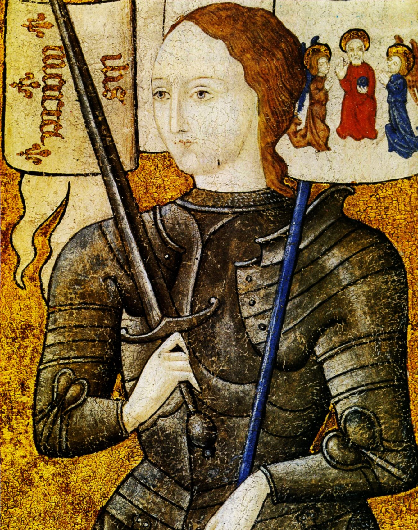 Joan of Arc - Miniature from the 15th century (detail)