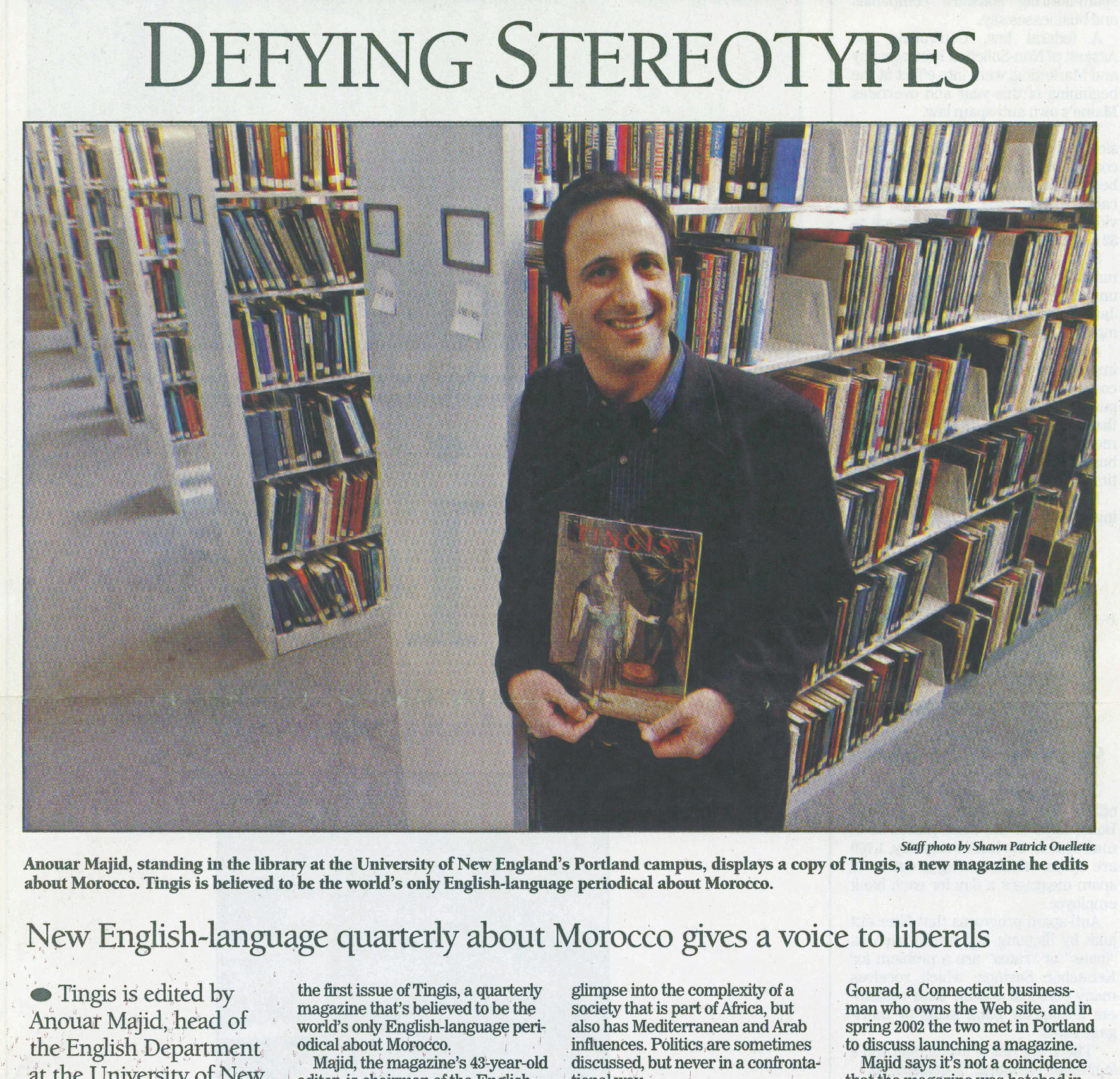 A 2004 Portland Press Herald article about the launch of print magazine