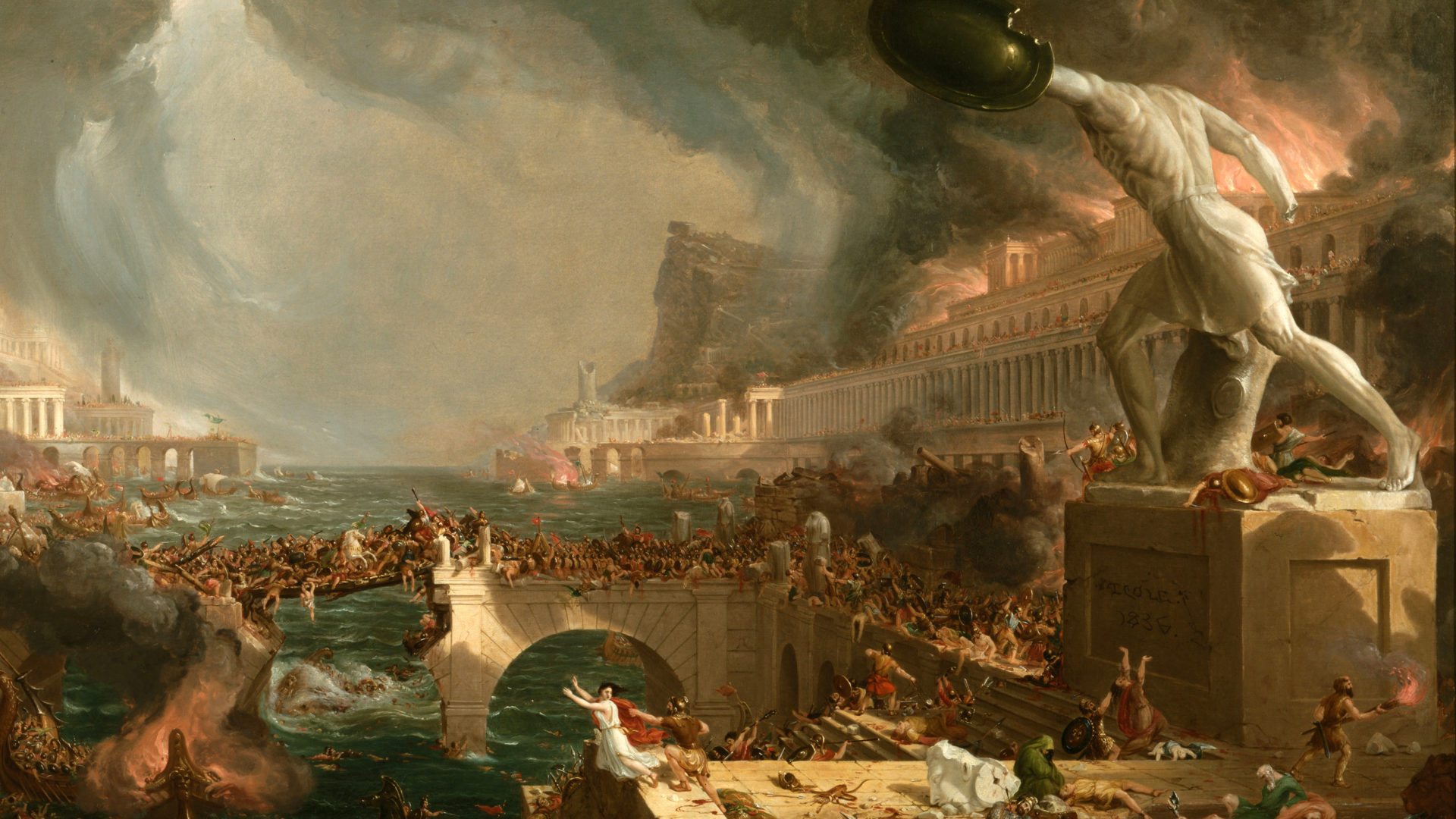 Destruction, Thomas Cole (1836)