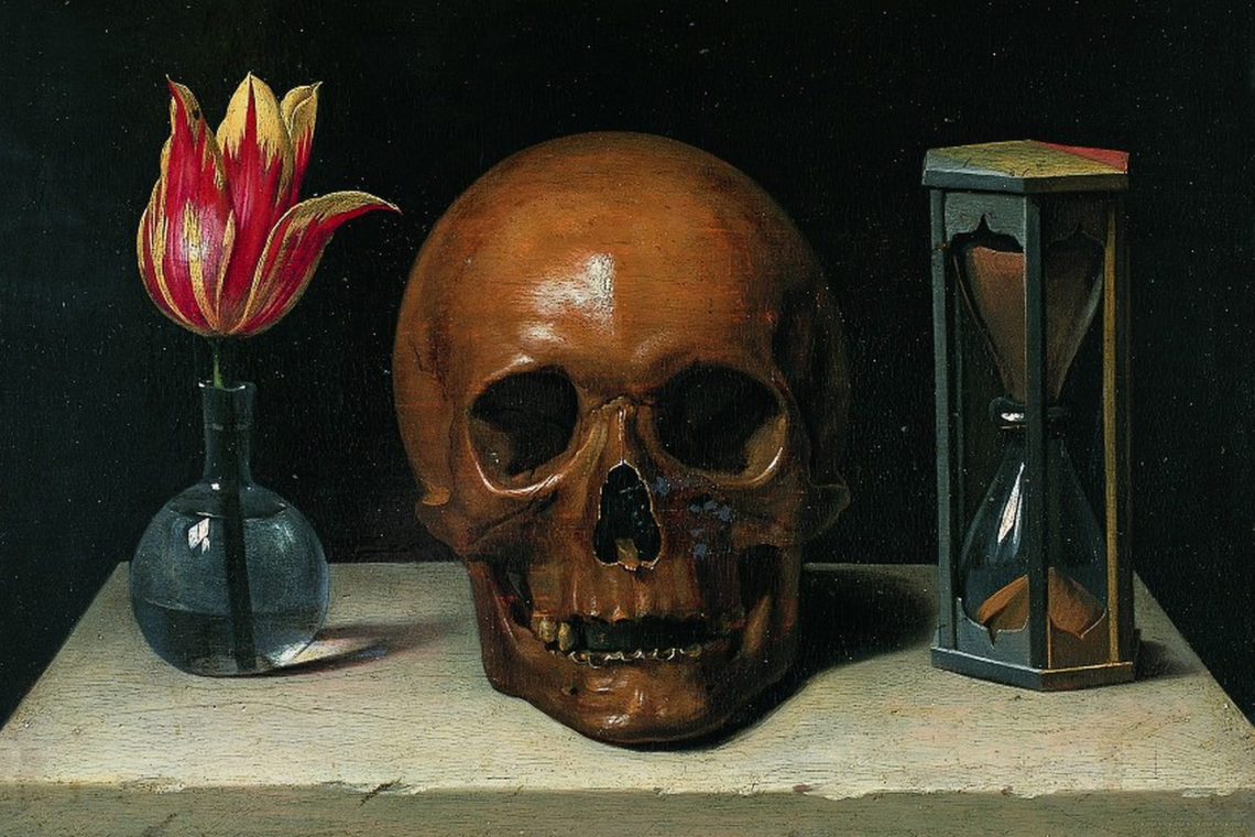 Still-Life with a Skull, Philippe de Champaigne (1671)