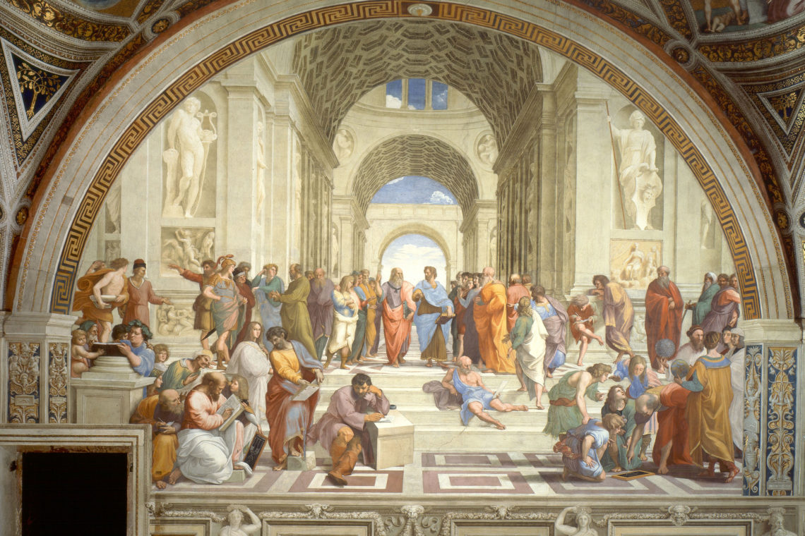The School of Athens, Raffaello Sanzio da Urbino (1511)